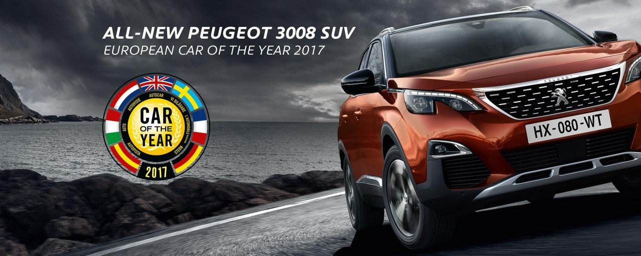 PEUGEOT 3008 SUV wins European Car of the Year 2017